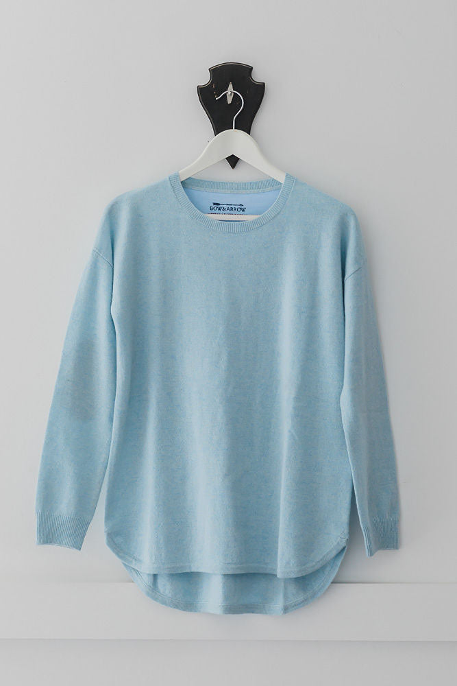 Baby Blue Swing Jumper with Ivory Patches