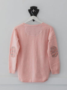 Lolly Pink Swing Jumper with Liberty Patches