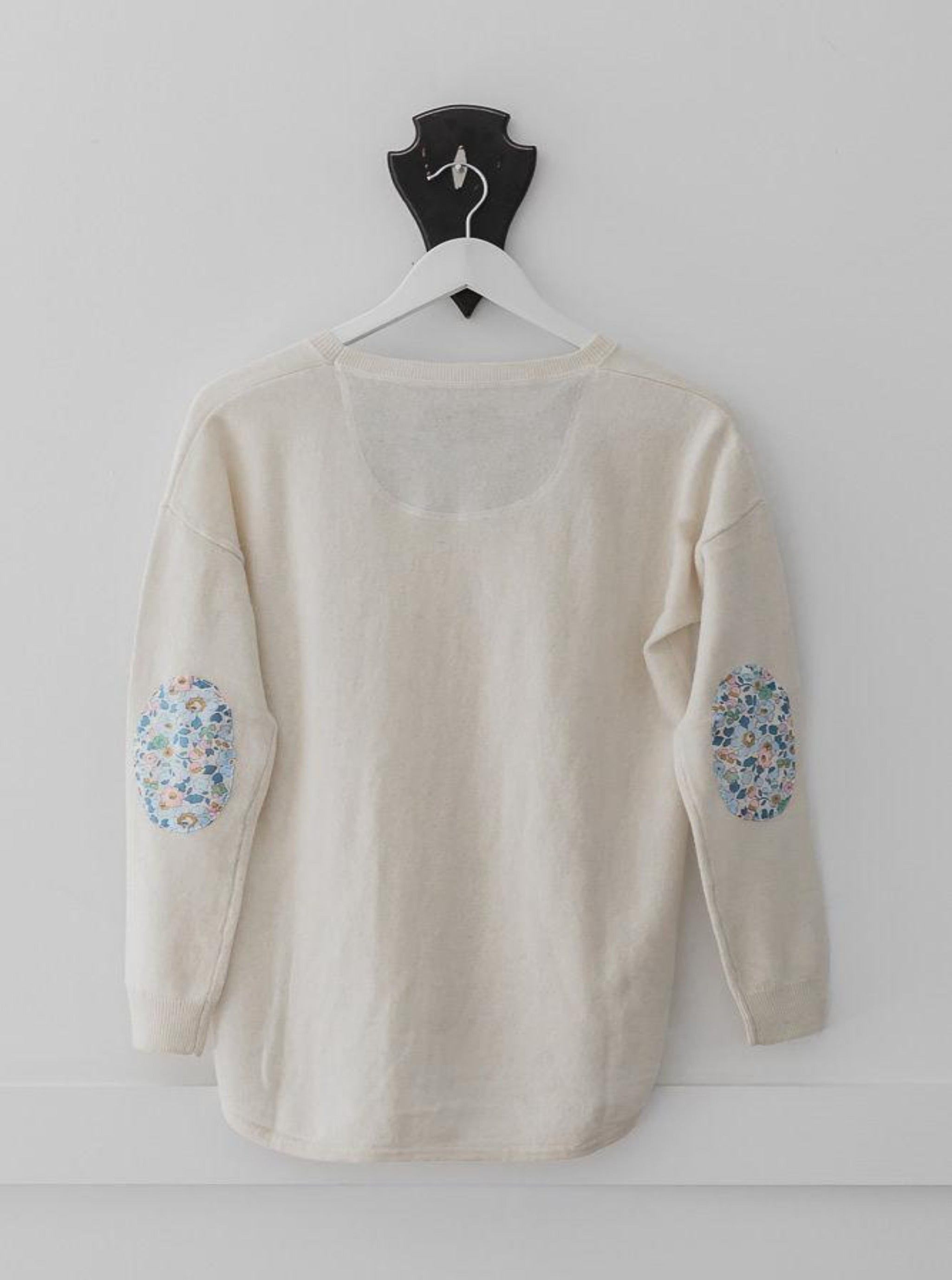 Ivory Swing Jumper with Liberty Patches