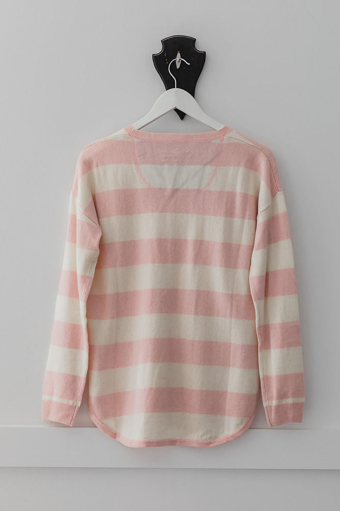 Pale Pink and Ivory Swing Jumper