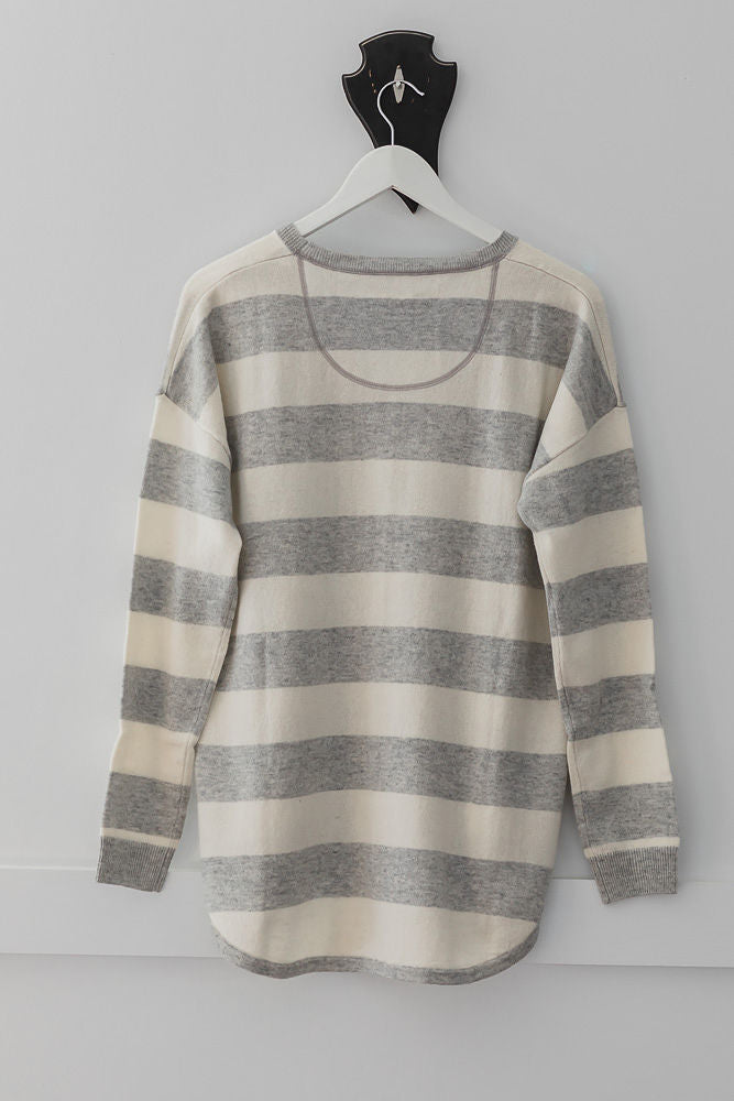 Grey and Ivory Swing Jumper
