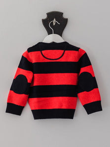 Red and Navy Stripe George Jumper