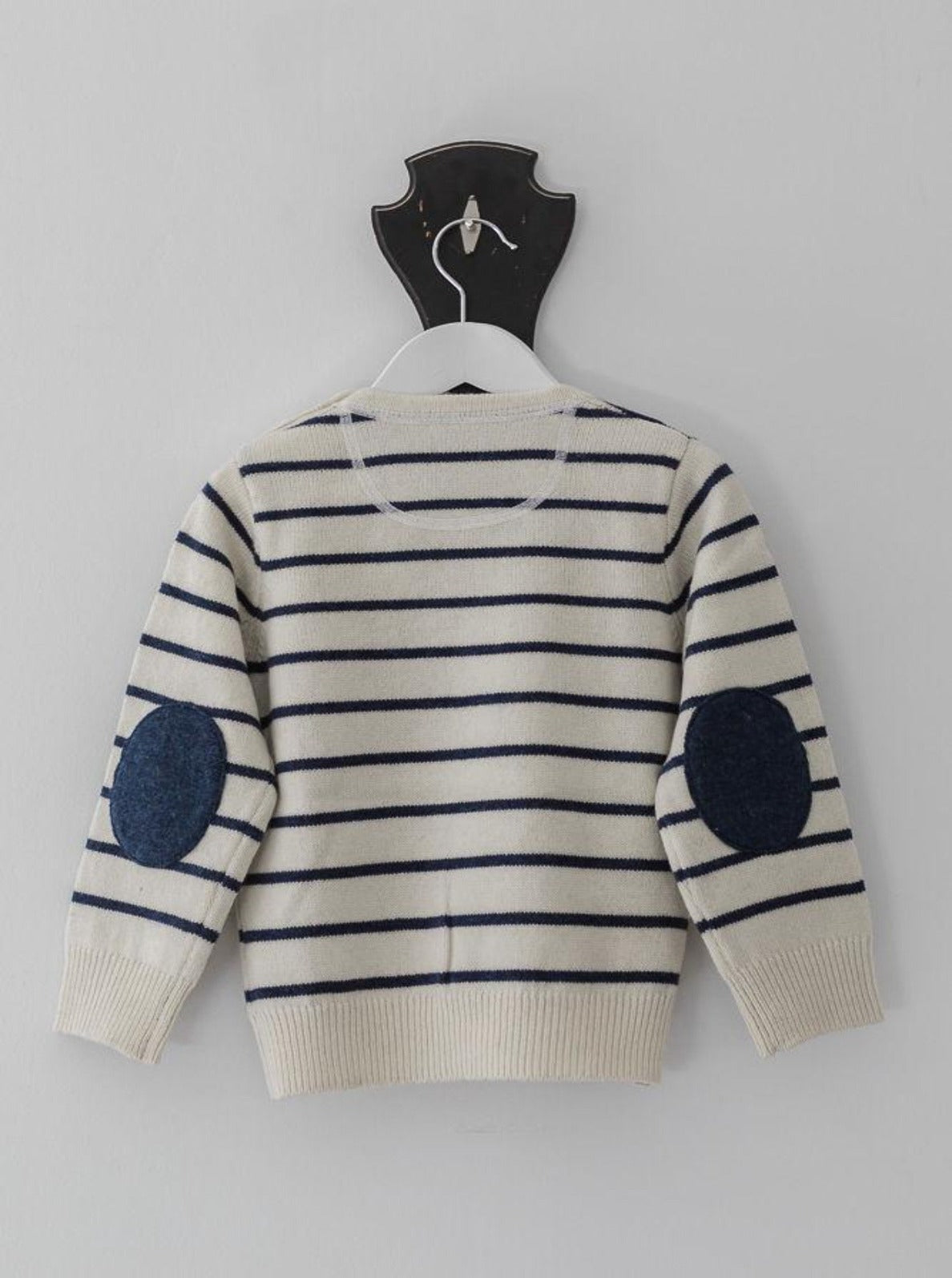 Ivory and Navy Stripe Esther Jumper