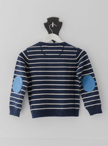Navy and White Stripe George Jumper