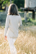 Load image into Gallery viewer, Ivory Swing Jumper with Liberty Patches