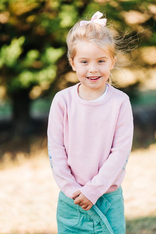 Pink Florence Jumper with Betsy Liberty Patches