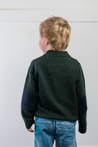 Forest Green Hunter Jumper with Navy Patches