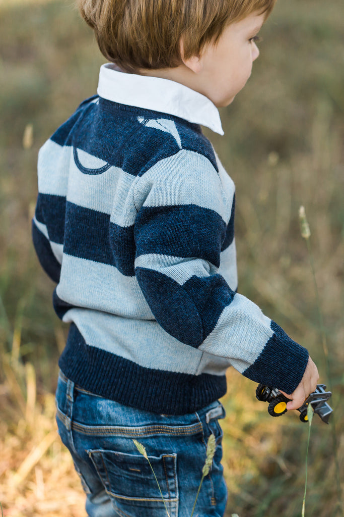 Navy and Pale Blue George Jumper