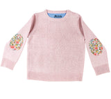 Pale Pink Florence Jumper with Liberty Patches