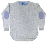 Grey Swing Jumper with Blue/White Patches