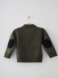 Khaki Hunter Jumper with Navy Patches