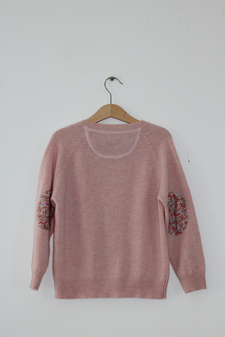 Pink Molly Cardigan with Liberty Patches