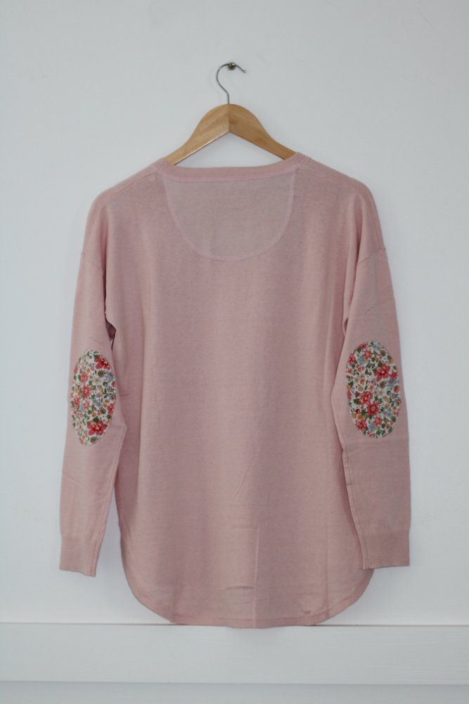 Lolly Pink Sweater with Aloha Liberty patches