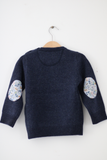 Navy Molly Cardigan with Aloha Liberty Patches