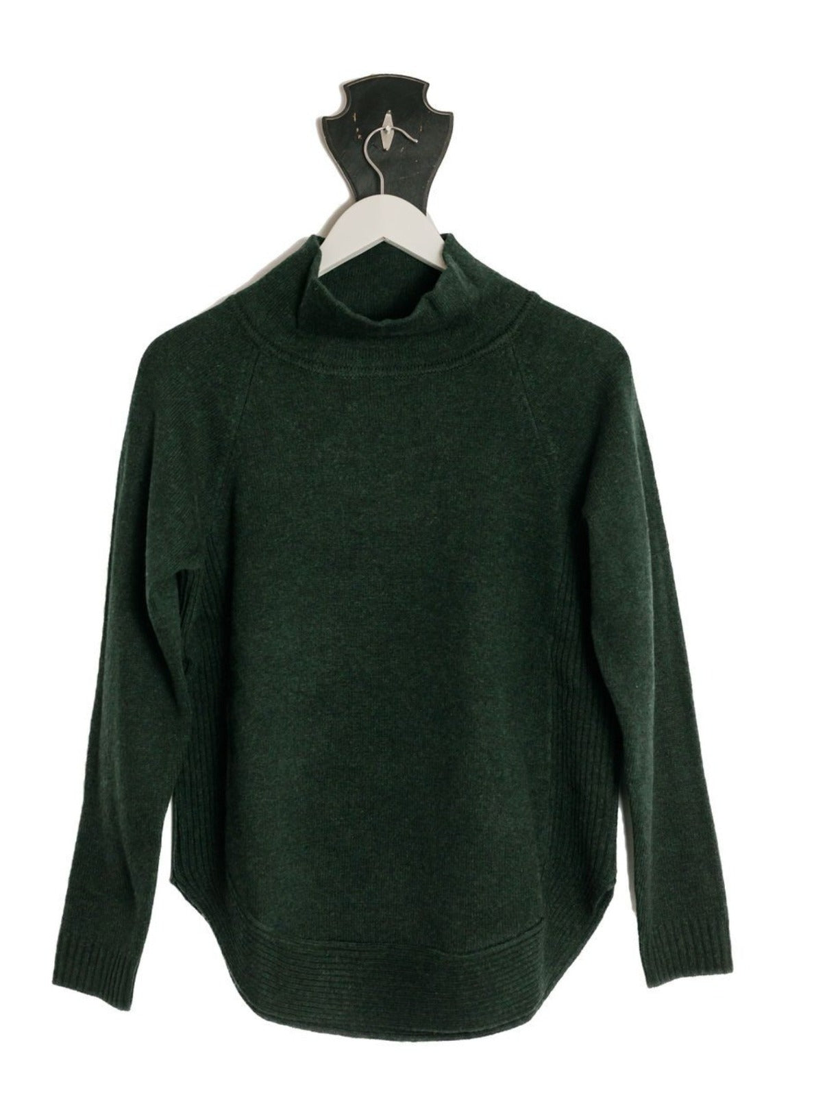 Forest Green Funnel Neck Jumper