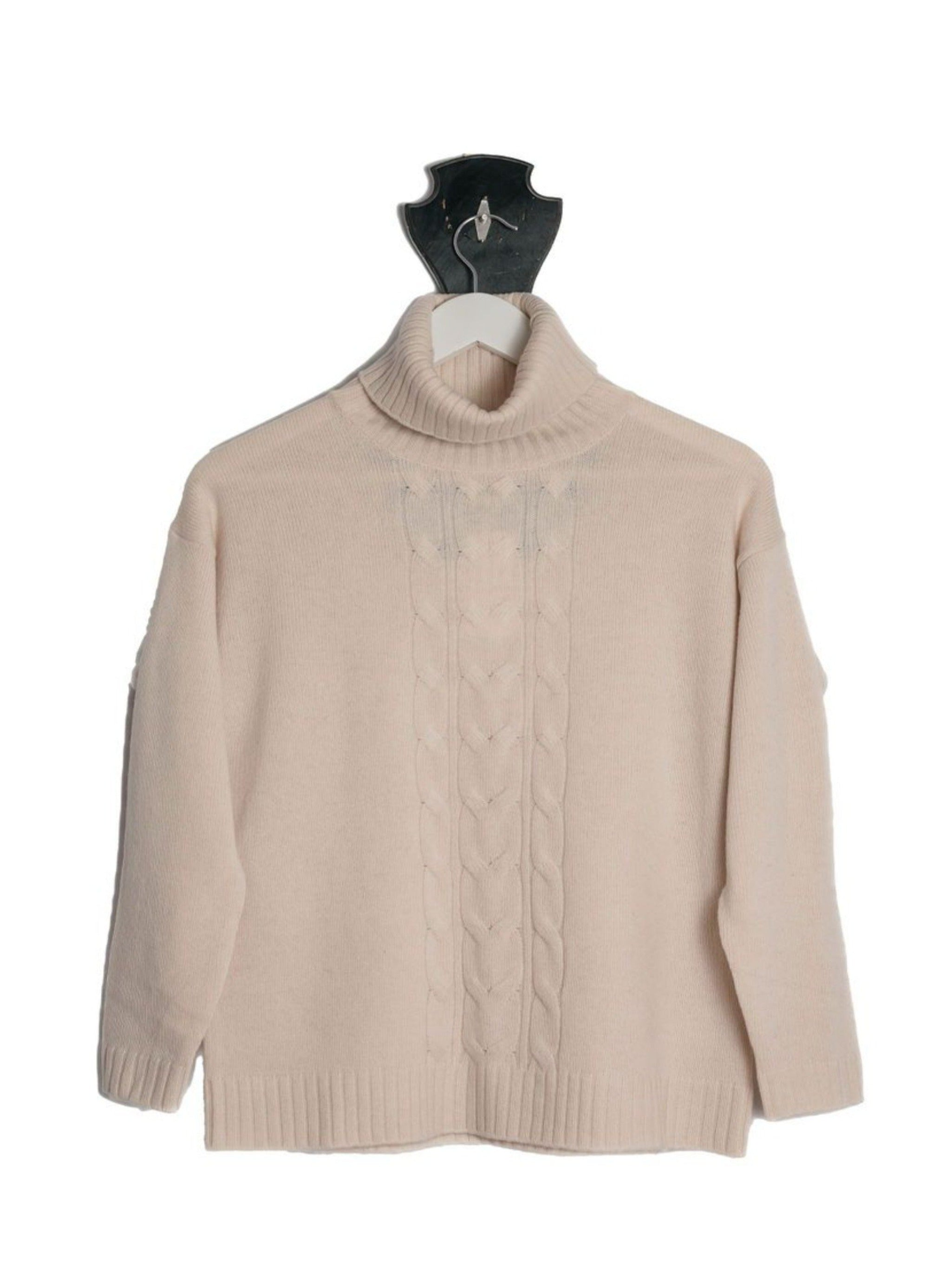 NEW LOOK Light Beige Cable Roll Neck Jumper