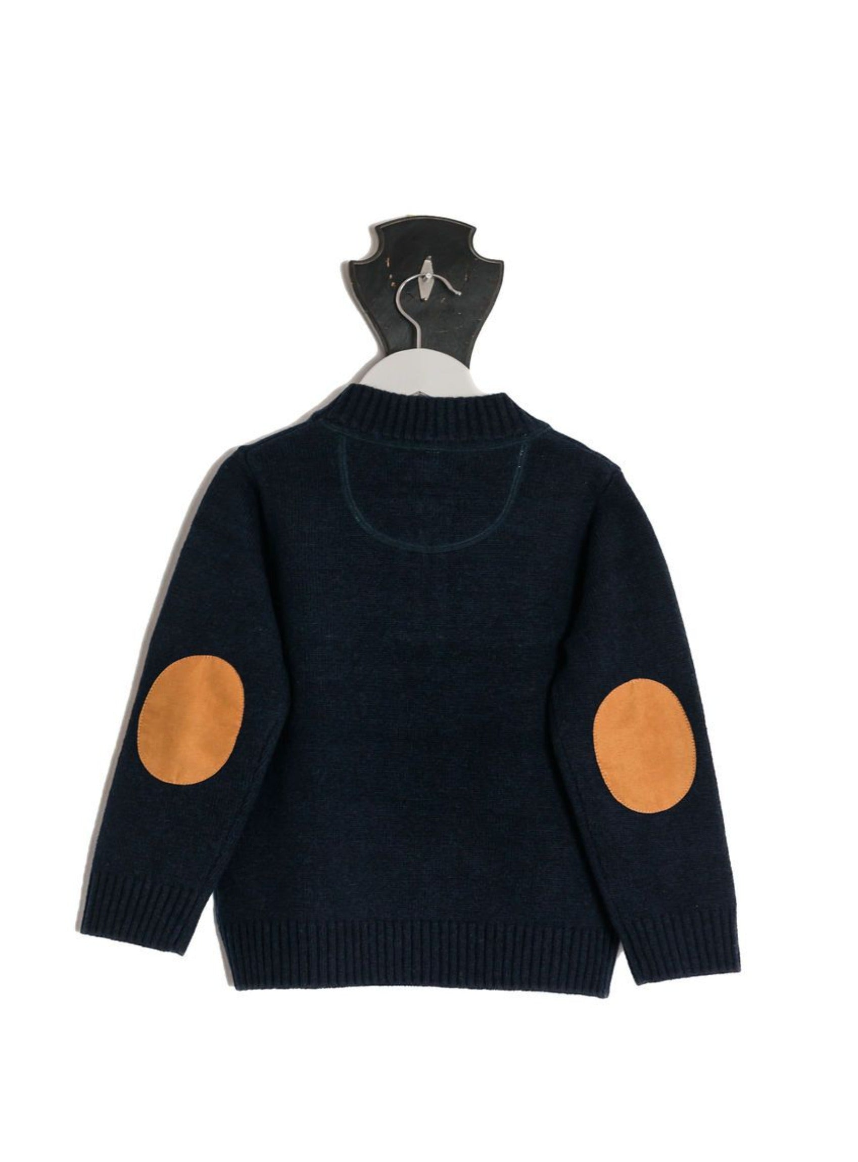 Navy Hunter Jumper with Tan Patches
