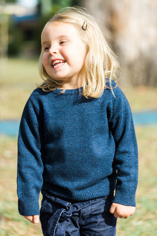 Navy Florence Jumper with Liberty Patches