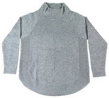 Grey Funnel Neck Jumper