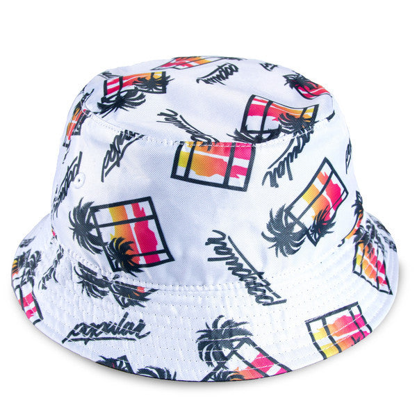 Sunset Palms Takeover Bucket / White
