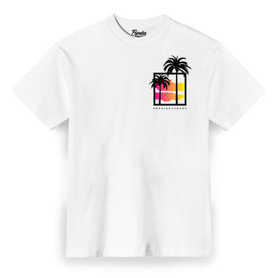 Sunset Palms Box / White