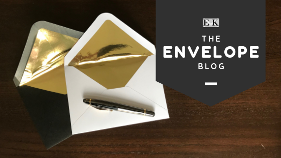 metallic foiled envelopes