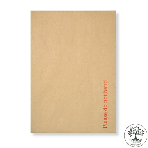 "Manilla Hard Board Back Envelopes - Printed ""Please do not bend"" - Envelope Kings"