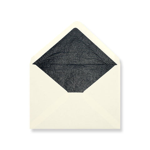 Ivory - Black Tissue Lined Envelopes