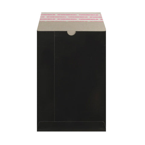 Black All Board Pocket Peel & Seal - Envelope Kings