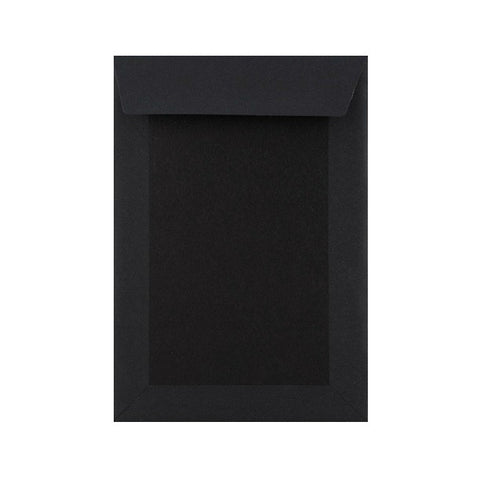 Black Full Board Back Pocket Peel & Seal - Envelope Kings