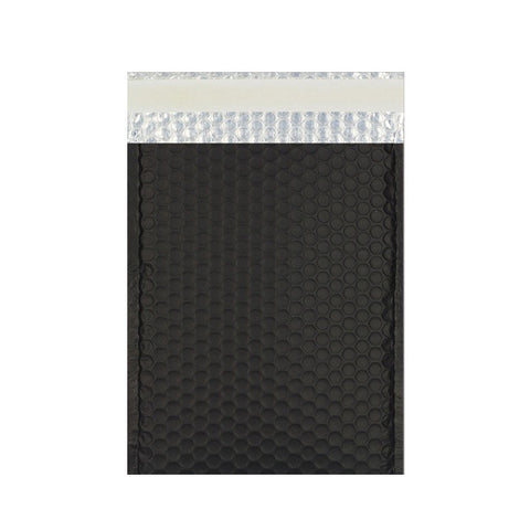 Black Matt Metallic Bubble Bags Pocket Peel and Seal - Envelope Kings