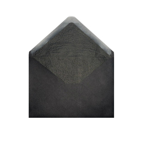 Black - Black Tissue Lined Envelopes - Envelope Kings