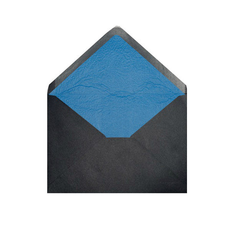 Black - Blue Tissue Lined Envelopes - Envelope Kings