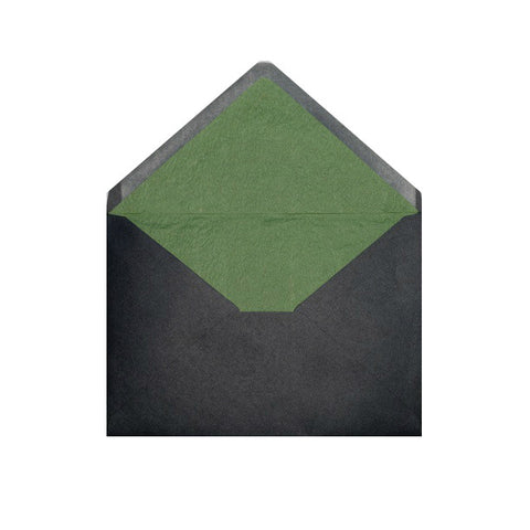 Black - Green Tissue Lined Envelopes - Envelope Kings
