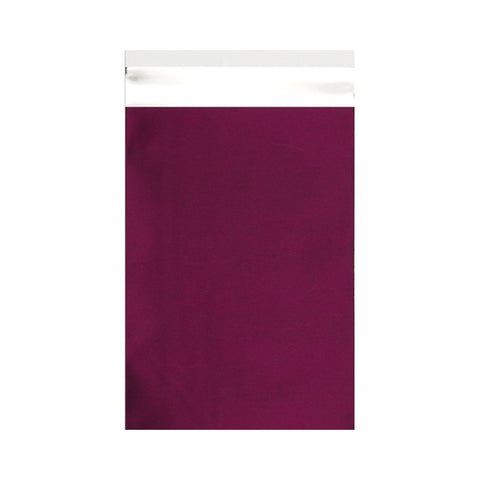 Burgundy Matt Metallic Foil Bags Pocket Peel and Seal - Envelope Kings