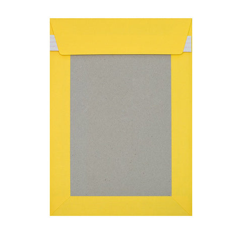 Dark Yellow Board Back Pocket Peel & Seal - Envelope Kings