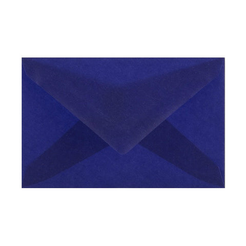 Dark Blue Translucent Diamond Flap Gummed - Envelope Kings