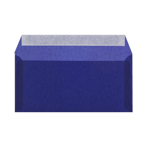 Dark Blue Translucent Envelopes Wallet Peel & Seal - Envelope Kings