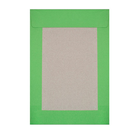 Green Board Back Pocket Peel & Seal - Envelope Kings