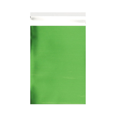 Green Matt Metallic Foil Bags Pocket Peel and Seal - Envelope Kings