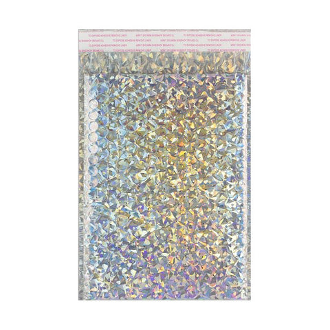 Holographic Gloss Metallic Bubble Bags Pocket Peel and Seal - Envelope Kings