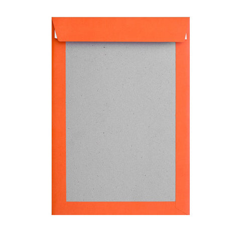 Orange Board Back Pocket Peel & Seal - Envelope Kings