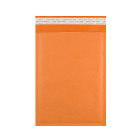 Orange Kraft Bubble Bags Pocket Peel and Seal - Envelope Kings