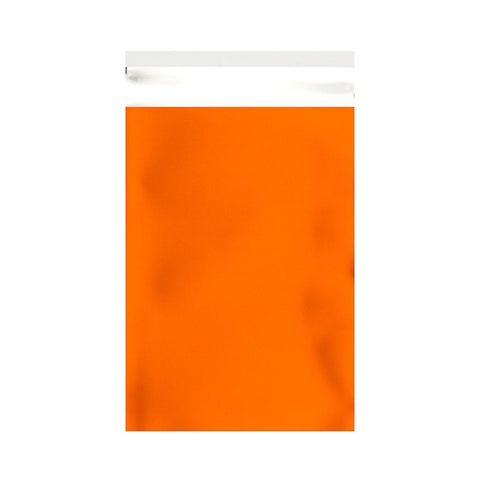 Orange Matt Metallic Foil Bags Pocket Peel and Seal - Envelope Kings
