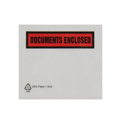 Document Enclosed Envelopes - Paper 100% Recyclable