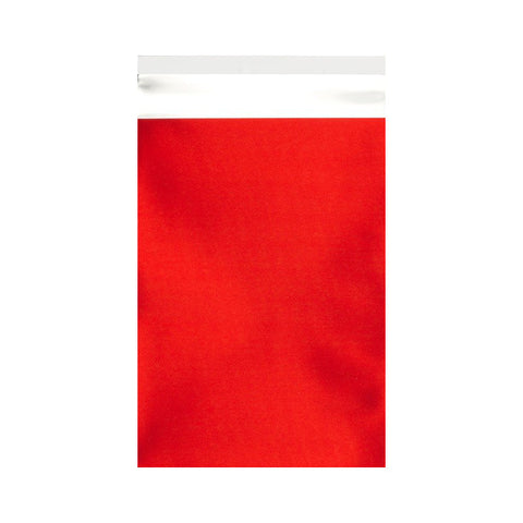 Red Matt Metallic Foil Bags Pocket Peel and Seal - Envelope Kings