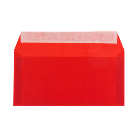 Red Translucent Wallet Peel & Seal - Envelope Kings
