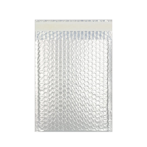 Silver Matt Metallic Bubble Bags Pocket Peel and Seal - Envelope Kings