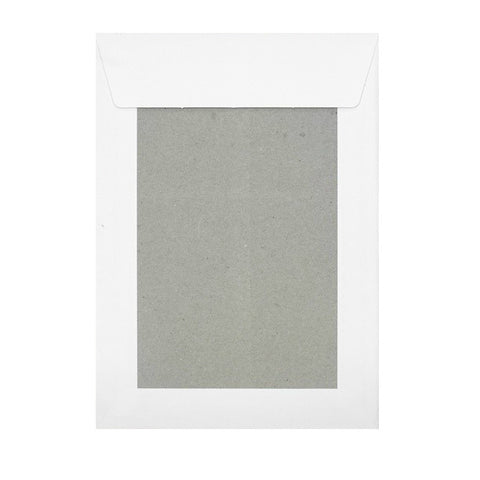 White Board Back Pocket Peel & Seal Unprinted - Envelope Kings