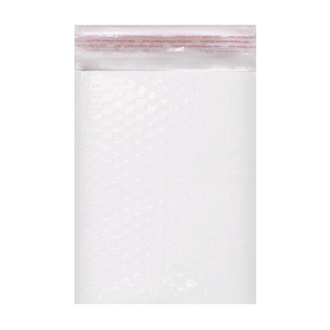 White Gloss Poly Bubble Bags Pocket Peel and Seal - Envelope Kings